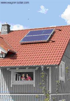 Solaranlage für die Warmwasserversorgung